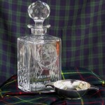 Selangor St Andrew's Society Centenary Year 1986 whisky decanter & solver Quaich